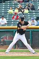 Brennan Boesch (23) of the Salt Lake Bees at bat against the Memphis Redbirds at Smith's Ballpark on June 18, 2014 in Salt Lake City, Utah.  (Stephen Smith/Four Seam Images)
