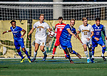 26 October 2019: University of Massachusetts Lowell River Hawk Midfielder Kyle Ryan, a Redshirt Senior from Westford, MA, in first half action against the University of Vermont Catamounts at Virtue Field in Burlington, Vermont. The Catamounts rallied to defeat the River Hawks 2-1, propelling the Cats to the America East Division 1 conference playoffs. Mandatory Credit: Ed Wolfstein Photo *** RAW (NEF) Image File Available ***
