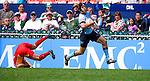 Uruguay vs China on Day 2 of the 2012 Cathay Pacific / HSBC Hong Kong Sevens at the Hong Kong Stadium in Hong Kong, China on 24th March 2012. Photo © Felix Ordonez / PSI for EMC2