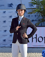MIAMI BEACH, FL - APRIL 09: Georgina Bloomberg at the Longines Global Champions Tour stop in Miami Beach. Georgina Leigh Bloomberg is the younger daughter of former New York City Mayor and billionaire Michael Bloomberg and Susan Brown on April 9, 2016 in Miami Beach, Florida.<br /> <br /> <br /> People:  Georgina Bloomberg