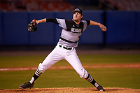 Wisconsin-Milwaukee Panthers relief pitcher Jake Tuttle (34) delivers a pitch during a game against the Ball State Cardinals on February 26, 2016 at Chain of Lakes Stadium in Winter Haven, Florida.  Ball State defeated Wisconsin-Milwaukee 11-5.  (Mike Janes/Four Seam Images)
