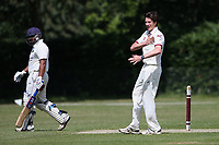 Brentwood claim the first Harold Wood wicket during Brentwood CC (bowling) vs Harold Wood CC, Hamro Foundation Essex League Cricket at The Old County Ground on 12th June 2021