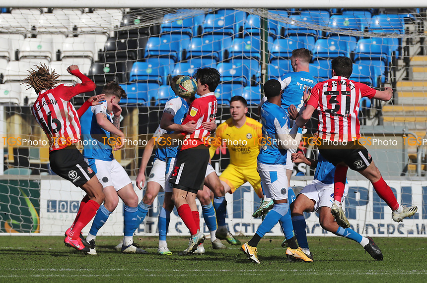Sunderland attack  during Peterborough United vs Sunderland AFC, Sky Bet EFL League 1 Football at London Road on 5th April 2021