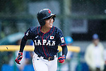 #37 Sugimoto Mina of Japan runs after bat during the BFA Women's Baseball Asian Cup match between Pakistan and Japan at Sai Tso Wan Recreation Ground on September 4, 2017 in Hong Kong. Photo by Marcio Rodrigo Machado / Power Sport Images