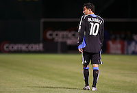 Arturo Alvarez. San Jose Earthquakes tied Los Angeles Galaxy 1-1 at the McAfee Colisum in Oakland, California on April 18, 2009.