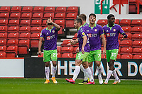 3rd October 2020; City Ground, Nottinghamshire, Midlands, England; English Football League Championship Football, Nottingham Forest versus Bristol City; Nahki Wells of Bristol City celebrates his goal in the 2nd minute for 2-0