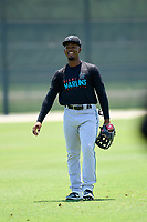 Miami Marlins Richard Roman (87) during a Minor League Spring Training camp day on April 28, 2021 at Roger Dean Chevrolet Stadium Complex in Jupiter, Fla.  (Mike Janes/Four Seam Images)