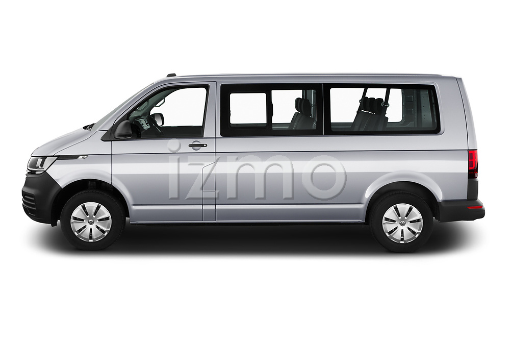 Car Driver side profile view of a 2020 Volkswagen Transporter - 4 Door Passenger Van Side View