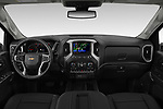 Stock photo of straight dashboard view of 2020 Chevrolet Silverado-3500 LTZ 4 Door Pick-up Dashboard