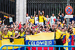 Colombian supporters during La Vuelta a España 2016 in Madrid. September 11, Spain. 2016. (ALTERPHOTOS/BorjaB.Hojas)