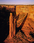 The Spider rock formation in Canyon de Chelly National Monument, Arizona .  John offers private photo tours in Arizona and and Colorado. Year-round.