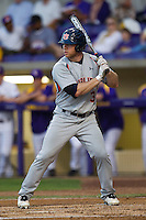 Auburn Tigers outfielder Cullen Wacker #3 at bat against the LSU Tigers in the NCAA baseball game on March 22nd, 2013 at Alex Box Stadium in Baton Rouge, Louisiana. LSU defeated Auburn 9-4. (Andrew Woolley/Four Seam Images).