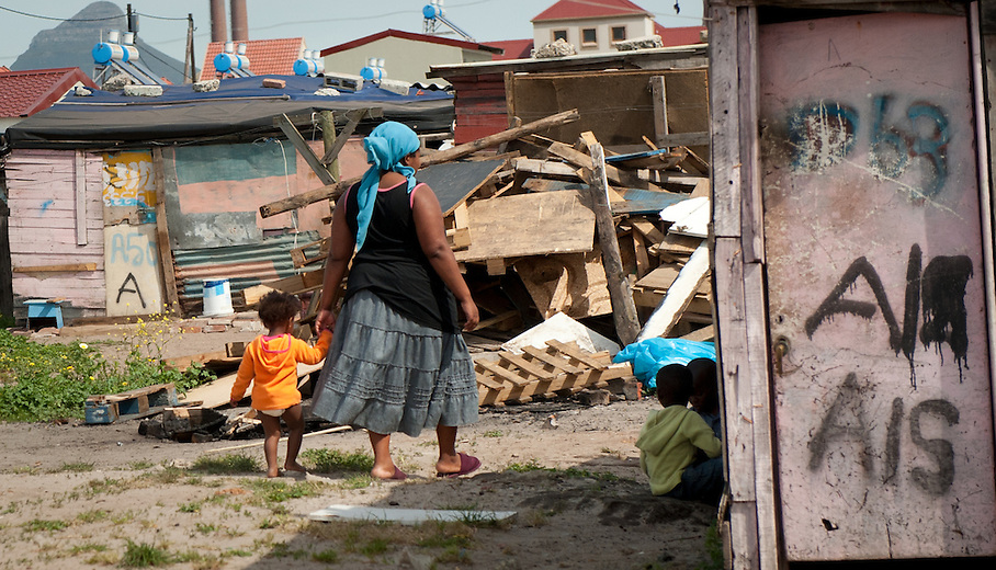 As in many poor communities, mothers are the backbone of township life. Children walk freely within the community, often eating at neighbors and friends during the day when parents are away at work.