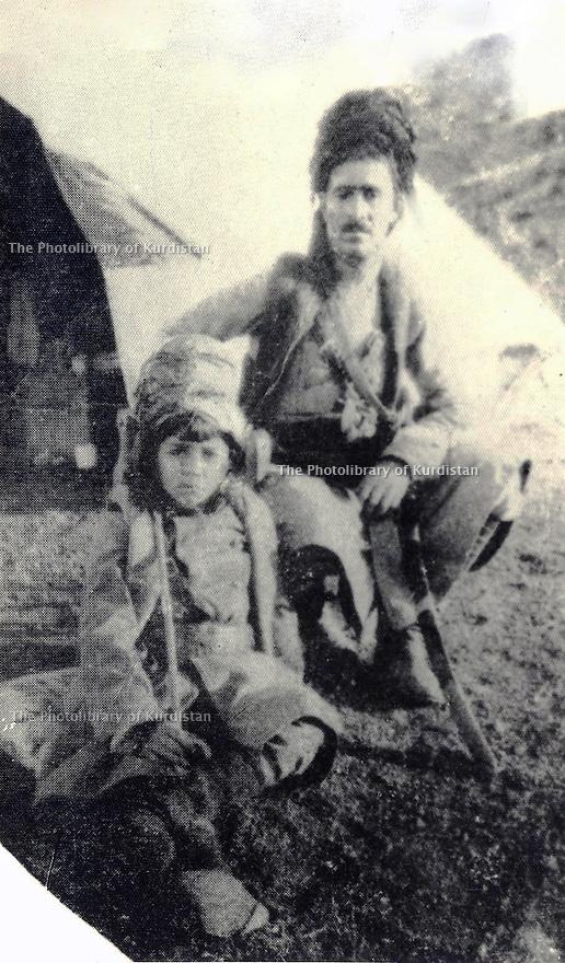 Iran 1920?.<br /> Simko with his son Khosro.<br /> Iran 1920?.<br /> Simko et son fils Khosro