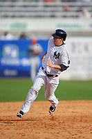 New York Yankees pinch runner Tyler Wade (94) running the bases during a Spring Training game against the Detroit Tigers on March 2, 2016 at George M. Steinbrenner Field in Tampa, Florida.  New York defeated Detroit 10-9.  (Mike Janes/Four Seam Images)