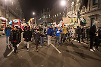 Anoymous UK call an anti austerity protest on Novemebr 5th as part of the worldwide million mask march protest. They started in trafalgar square before moving to Trafalgar square and then around parts of the west end causing minor disruption. There were minor scuffles with the police earlier in Parliament sqaure when police went to release vehicles that were trapped in the protest.