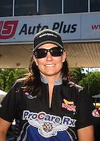 May 15, 2011; Commerce, GA, USA: NHRA funny car driver Melanie Troxel during the Southern Nationals at Atlanta Dragway. Mandatory Credit: Mark J. Rebilas-