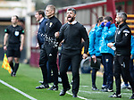 Motherwell v St Johnstone…20.10.18…   Fir Park    SPFL<br />Motherwell boss Stephen Robinson goes nuts<br />Picture by Graeme Hart. <br />Copyright Perthshire Picture Agency<br />Tel: 01738 623350  Mobile: 07990 594431