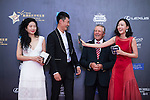 Gary Player and Li Haotong on the Red Carpet event at the World Celebrity Pro-Am 2016 Mission Hills China Golf Tournament on 20 October 2016, in Haikou, China. Photo by Marcio Machado / Power Sport Images