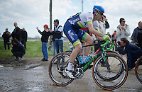 Mathew Hayman (AUS/Orica-GreenEDGE) at the end of sector 11: Auchy-lez-Orchies to Bersée (2.7km)<br /> <br /> 114th Paris-Roubaix 2016