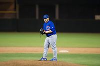 AZL Cubs relief pitcher Jeffrey Passantino (96) delivers a pitch during Game Three of the Arizona League Championship Series against the AZL Giants on September 7, 2017 at Scottsdale Stadium in Scottsdale, Arizona. AZL Cubs defeated the AZL Giants 13-3 to win the series two games to one. (Zachary Lucy/Four Seam Images)