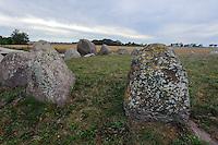 Großsteingrab der Jungsteinzeit bie Nobbin auf der Insel Rügen, Mecklenburg-Vorpommern, Deutschland