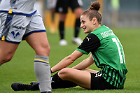 Valeria Monterubbiano of Sassuolo reacts during the women Serie A football match between US Sassuolo and Hellas Verona at Enzo Ricci stadium in Sassuolo (Italy), November 15th, 2020. Photo Andrea Staccioli / Insidefoto