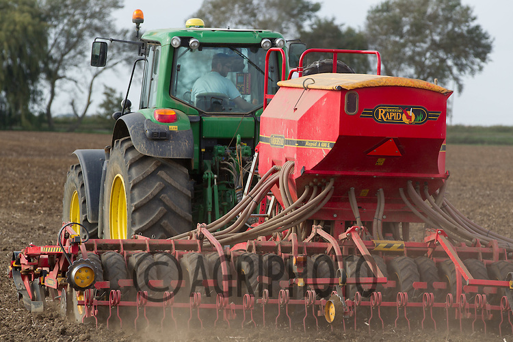 Drilling Wheat in the Lincolnshire Fens<br /> Picture Tim Scrivener 07850 303986<br /> tim@agriphoto.com<br /> ….covering agriculture in the UK….