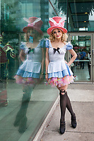 Alice in Wonderland Cosplay, Emerald City Comicon 2018, Seattle, Washington, USA.