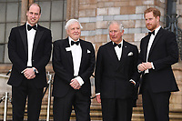 """Prince William, Sir David Atenborough, Prince Charles  and Prince Harry<br /> arriving for the world premiere of """"Our Planet"""" at the Natural History Museum, London<br /> <br /> ©Ash Knotek  D3491  04/04/2019"""