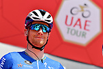 Sam Bennett (IRL) Deceuninck-Quick Step at sign on before the start of Stage 7 of the 2021 UAE Tour running 165km from Yas Island to Abu Dhabi Breakwater, Abu Dhabi, UAE. 27th February 2021.<br /> Picture: LaPresse/Gian Mattia D'Alberto   Cyclefile<br /> <br /> All photos usage must carry mandatory copyright credit (© Cyclefile   LaPresse/Gian Mattia D'Alberto)