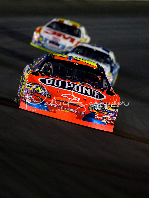 Jeff Gordon drives through turn four during the Bank of America 500 NASCAR race at Lowes's Motor Speedway in Concord, NC.