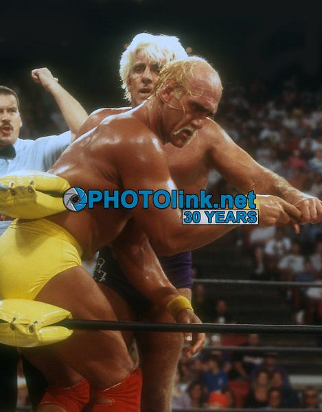Hulk Hogan, Ric Flair, 1994, Photo By John Barrett/PHOTOlink