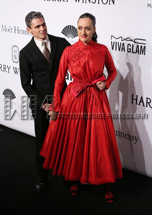 Ruben Toledo and Isabel Toledo attend the 2015 amfAR New York Gala at Cipriani Wall Street on February 11, 2015 in New York City.