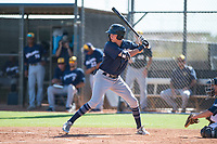 Milwaukee Brewers third baseman Chad McClanahan (72) at bat during an Instructional League game against the San Diego Padres at Peoria Sports Complex on September 21, 2018 in Peoria, Arizona. (Zachary Lucy/Four Seam Images)