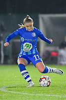 Gent's Imani Prez pictured during a female soccer game between  AA Gent Ladies and Oud Heverlee Leuven on the 9th matchday of the 2020 - 2021 season of Belgian Scooore Womens Super League , friday 11 th of December 2020  in Oostakker , Belgium . PHOTO SPORTPIX.BE | SPP | DIRK VUYLSTEKE