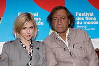 Montreal (Qc) CANADA - Aug 28 2009  World Film Festival - <br /> <br /> Tony Gatliff (R) , Marie-Josee Croze (L) present  the movie Korkoro (2009)<br /> ... aka Freedom