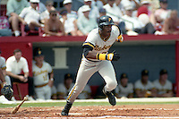 Pittsburgh Pirates Barry Bonds during spring training circa 1991 at Chain of Lakes Park in Winter Haven, Florida.  (MJA/Four Seam Images)
