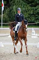 NZL-Jesse Campbell rides Gambesie during the Dressage for the CCI-S 4*. Interim-10th. 2021 GBR-Bicton International Horse Trials. Devon. Great Britain. Friday 11 June. Copyright Photo: Libby Law Photography