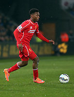 SWANSEA, WALES - MARCH 16: Daniel Sturridge of Liverpool in action during the Premier League match between Swansea City and Liverpool at the Liberty Stadium on March 16, 2015 in Swansea, Wales