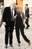 Leigh Lawson and Twiggy Lawson (R) arrive for the VIP preview of the Royal Academy of Arts Summer Exhibition 2016