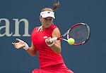 Elina Svitolina (UKR) loses to Ekaterina Makanrova (RUS) 6-3, 7-5 at the US Open in Flushing, Y on September 4, 2015.