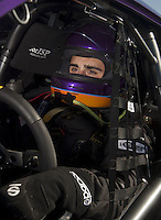 Mar. 12, 2011; Gainesville, FL, USA; NHRA pro stock driver Vincent Nobile during qualifying for the Gatornationals at Gainesville Raceway. Mandatory Credit: Mark J. Rebilas-.