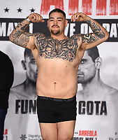 LOS ANGELES, CA - APRIL 30: Andy Ruiz Jr. attends the official weigh-in for the Andy Ruiz Jr. vs Chris Arreola Fox Sports PBC Pay-Per-View in Los Angeles, California on April 30, 2021. The PPV fight is on May 1, 2021 at Dignity Health Sports Park in Carson, CA. (Photo by Frank Micelotta/Fox Sports/PictureGroup)