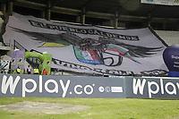 MANIZALES - COLOMBIA, 25-09-2020: Once Caldas y Atlético Nacional en partido por la fecha 10 de la Liga BetPlay DIMAYOR I 2020 jugado en el estadio Palogrande de la ciudad de Manizalez. / Once Caldas and Atletico Nacional in match for the date 10 as part of BetPlay DIMAYOR League I 2020 played at the Palogrande stadium in Manizales city. Photo: VizzorImage / Dario Augusto Cardona / Cont