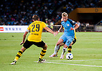 Manchester City striker Alex Zinchenko (r) trying to dribble Borussia Dortmund captain Marcel Schmelzer (l) during the 2016 International Champions Cup China match at the Shenzhen Stadium on 28 July 2016 in Shenzhen, China. Photo by Marcio Machado / Power Sport Images
