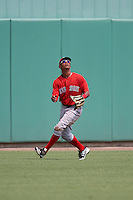 Boston Red Sox Lorenzo Cedrola (44) during an Instructional League game against the Minnesota Twins on September 23, 2016 at JetBlue Park at Fenway South in Fort Myers, Florida.  (Mike Janes/Four Seam Images)