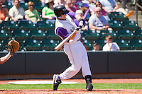 Ian Gac #33 of the Winston-Salem Dash takes a swing against the Kinston Indians at BB&T Ballpark on April 17, 2011 in Winston-Salem, North Carolina.   Photo by Brian Westerholt / Four Seam Images
