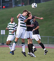 The number 5 ranked Charlotte 49ers play the University of South Carolina Gamecocks at Transamerica field in Charlotte.  Charlotte won 3-2 in the second overtime.  Snoopy Davidson (11), Thomas Allen (5)