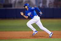 Tulsa Drillers second baseman Michael Ahmed (1) runs the bases during a game against the Corpus Christi Hooks on June 3, 2017 at ONEOK Field in Tulsa, Oklahoma.  Corpus Christi defeated Tulsa 5-3.  (Mike Janes/Four Seam Images)